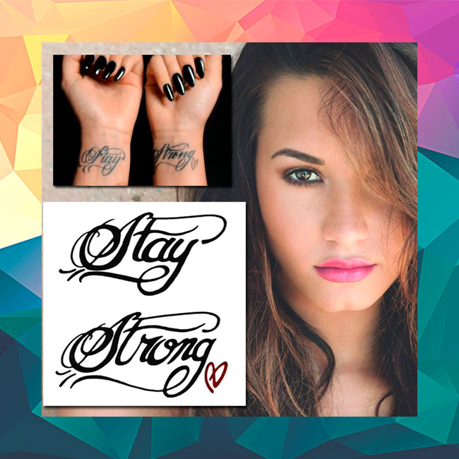 Demi Lovatos stay strong