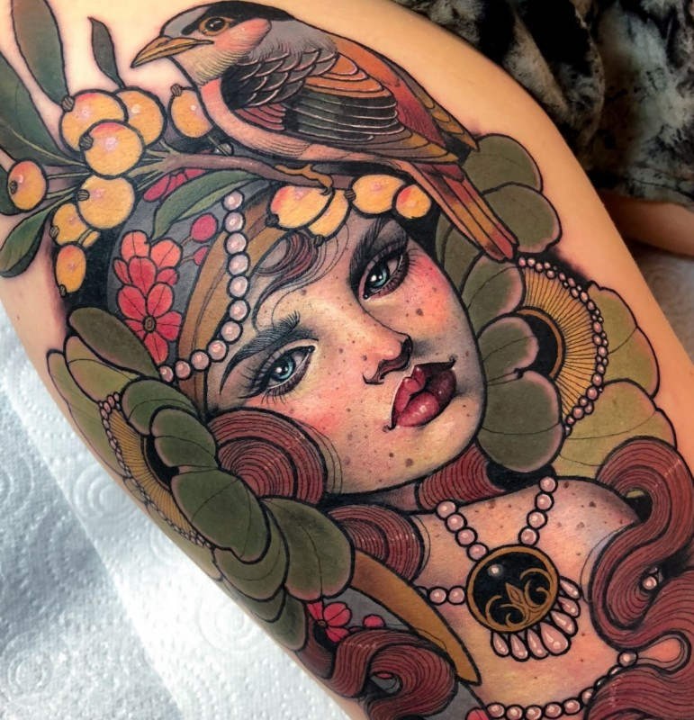 Hannah Flowers, On The Road, Лондон, UK Инстаграм тату-мастера: @hannahflowers_tattoos